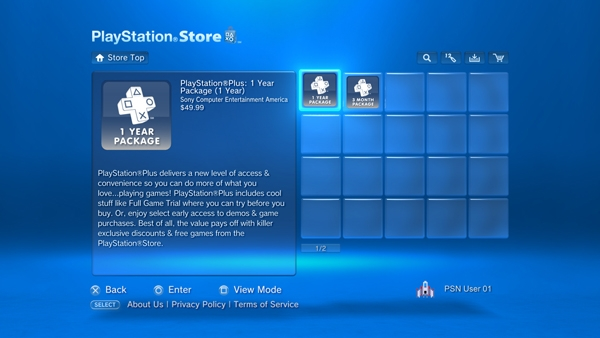 PlayStation&reg;Plus subscription service